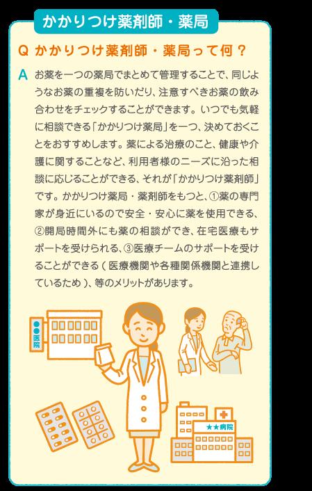 かかりつけ薬剤師・薬局 お薬の重複や飲み合わせを一括管理で安心
